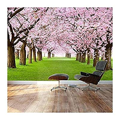 Made For You, Charming Piece of Art, Beautiful Cherry Blossom Trees Landscape Wall Mural