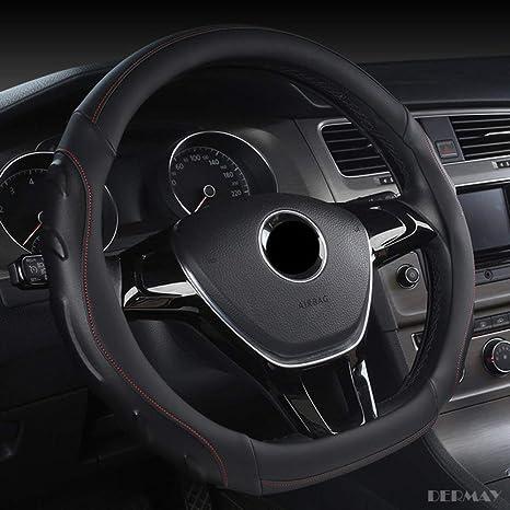 ZHANGBINGB Cubierta del Volante en Forma de D para VW Polo 2014 ...