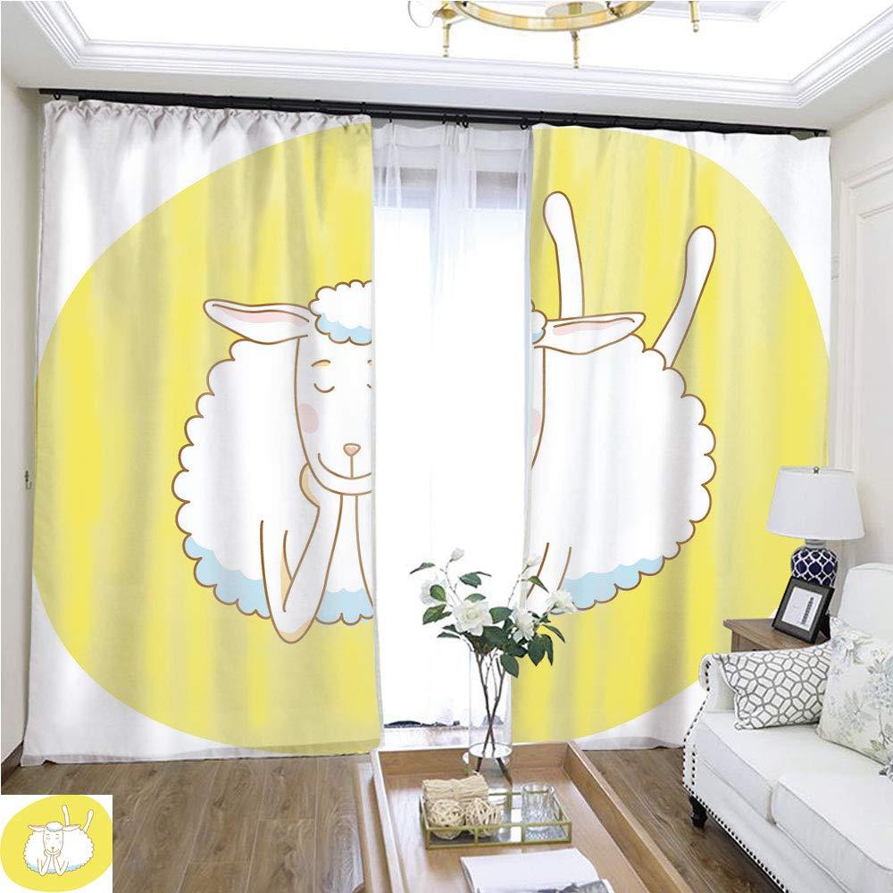 カーテン ガーゼ ドリームハウス 幅72 x 長さ72 レモンリネン ループ トップ カーテン 高精度 寝室 リビングルーム キッチンなどに W72