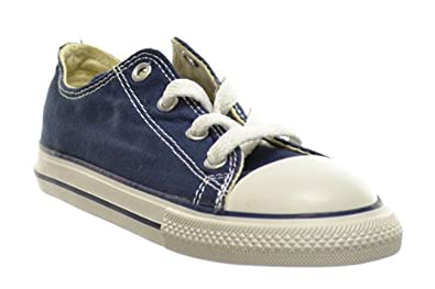 Amazon.com  Converse Shoes All Star Lo Top Navy Blue Infant Toddler ... 3657e06af2