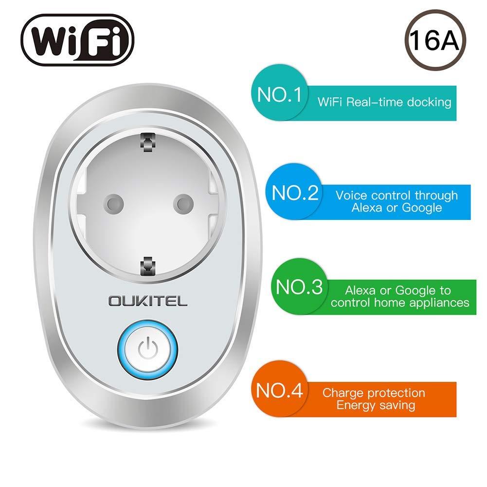 Sararoom Presa Intelligente WiFi Presa Alexa 16a Smart Plug Energy Monitor per Elettrodomestici Controllo Remoto via Andriod iOS App Compatibile con Google Home//Alexa//Smart Life