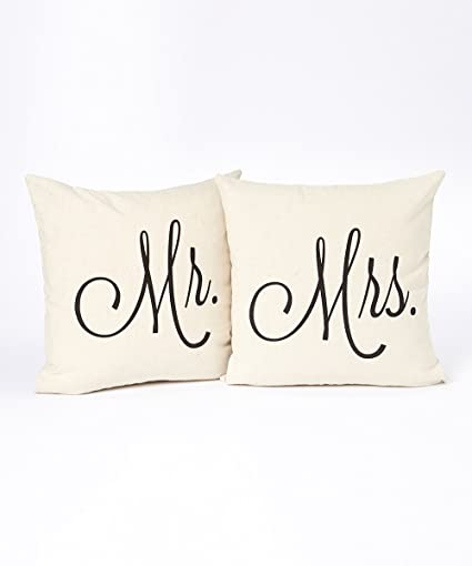 Amazon Mr And Mrs Pillow Cover Set 40 X 40 Wedding Gift 40 Cool Mr And Mrs Pillow Covers