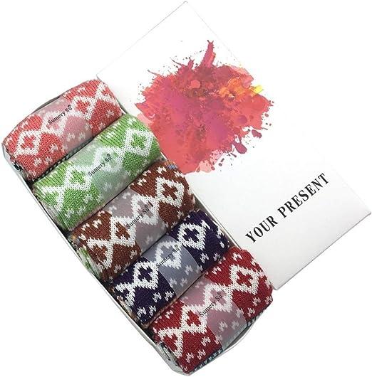 Calcetines 5 Pares/porción Calcetines Invierno de Las Mujeres japonesas Calientes de los Calcetines Muchacha de Las señoras (Color : 166 Pack w Gift Box, tamaño : One Size): Amazon.es: Hogar