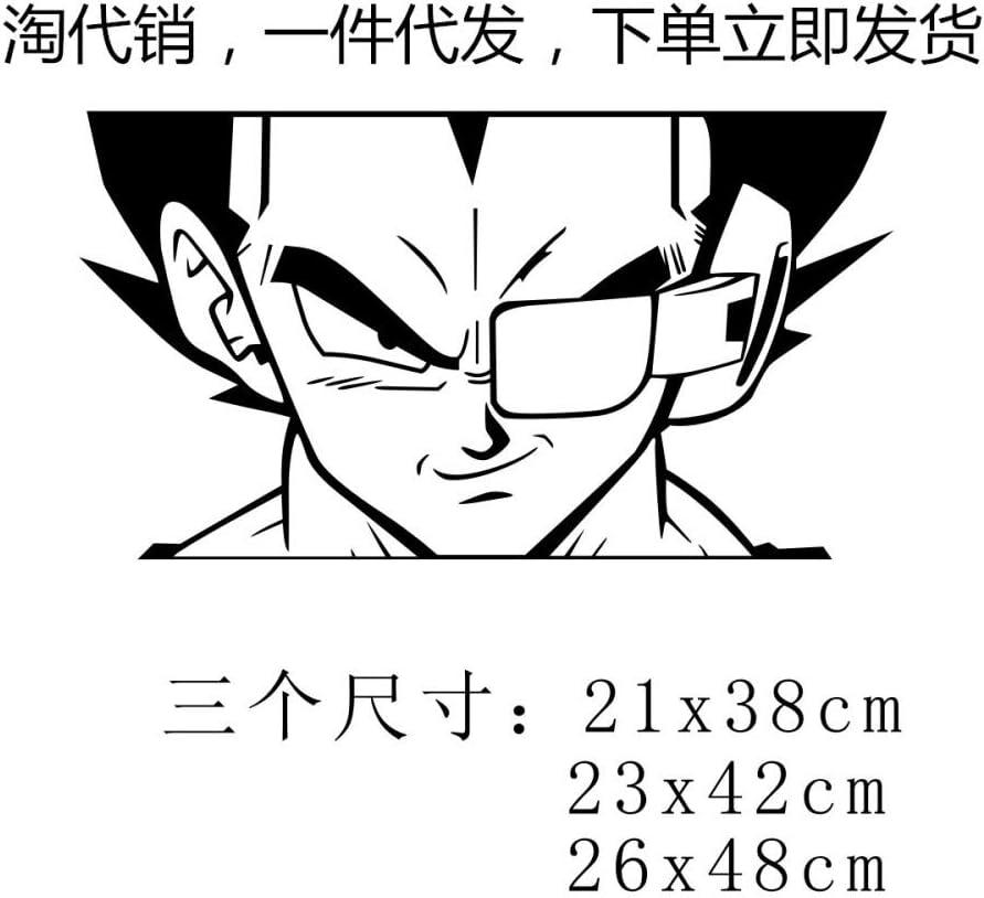 Ljmljm Papier Peint Autocollant Noir 21x38cm Vegeta Seven Dragon Ball Cartoon Amazon Fr Cuisine Maison