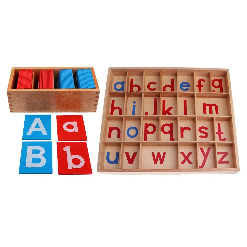 Sharplace 2 Set Kids Toys Montessori Moveable Alphabets az Sound Learning Words Toys