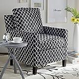 Safavieh Mercer Collection Buckler Black & White Club Chair, Standard