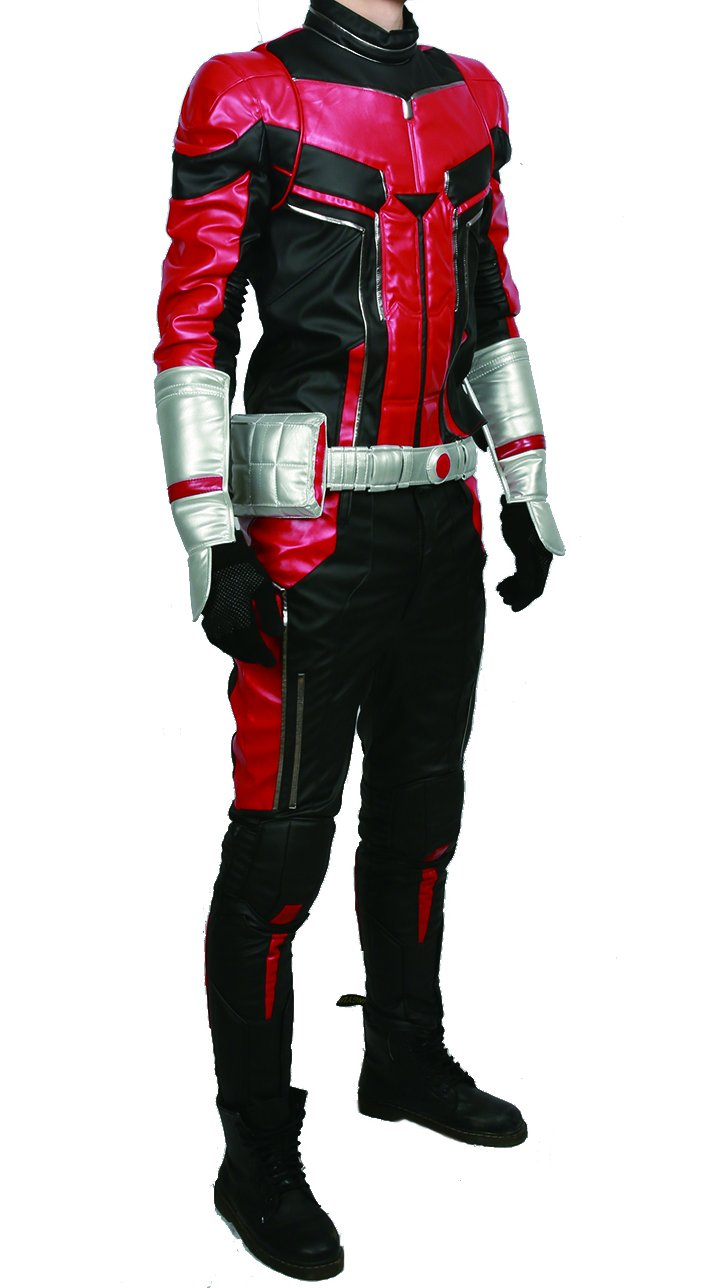 xcoser Ant Man Costume with Helmet Deluxe PU Cosplay Outfit Belt Gloves Full Suit Halloween Custom Made by xcoser (Image #3)