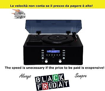 Teac LP-R500 Tocadiscos con grabadora CD Audio y radio y ...