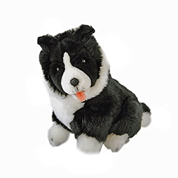 Amazon Com Bocchetta Plush Toys Border Collie Dog Sitting Soft