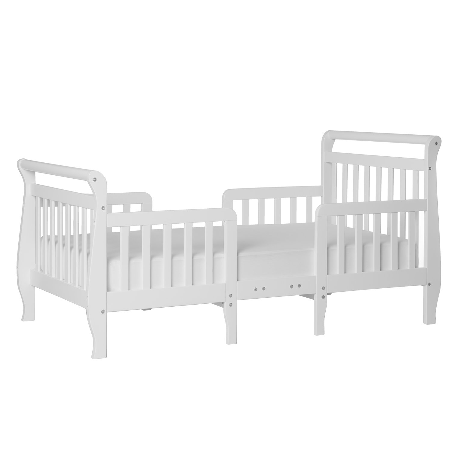 White-Wood-Toddler-Bed