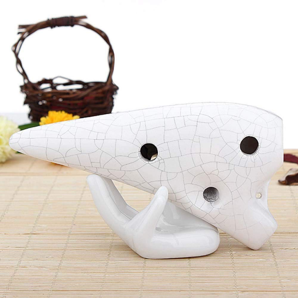 FDGD Soporte de Mano de cer/ámica Ocarina Soporte con Forma de Mano Titular de la Planta de Aire de Porcelana Base de Escritorio de Oficina