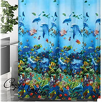 Under The Sea Seabed Fish Corals Underwater Ocean Tropical Shower Curtain