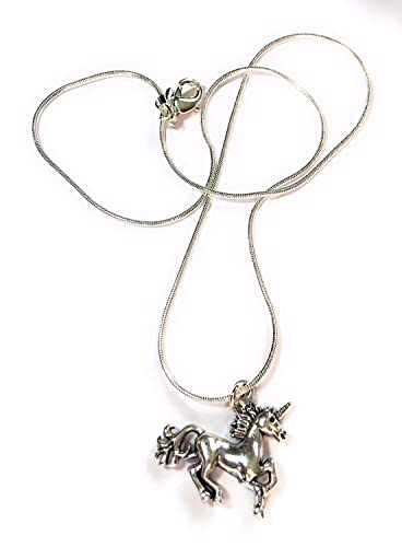 Fizzybutton Unicorn Charm Necklace With Silver Plated Chain Presented In Gift Box