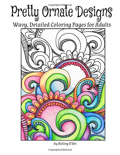 Download Pretty Ornate Designs: Wavy, Detailed Coloring Pages for Adults PDF