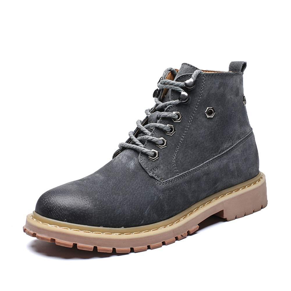 Männer Schuhe Herren Stiefel, Winter Herren Plus Samt warme Wanderschuhe Outdoor Herren Schnürschuhe Mode Rutschfeste Plus Samt Stiefeletten Herrenmode Stiefel (Farbe : B, Größe : 40)