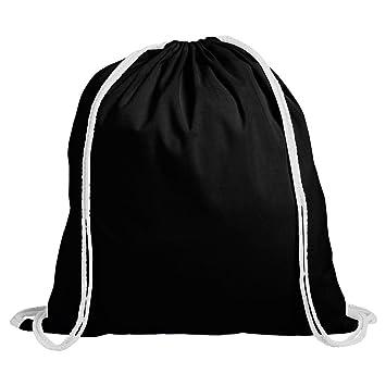 Juego de 10 mochilas de deporte para niños (correas de cordón, 100% algodón) negro negro Talla:39.5 x 34cm: Amazon.es: Deportes y aire libre