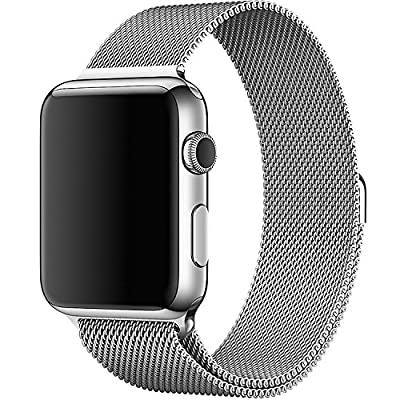Apple Watch Milanese Loop Band, Silver MJ5E2ZM/A (Band only, for Apple Watch 38mm)