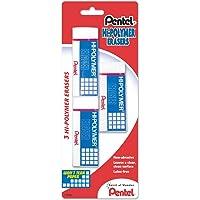 3-Pack Pentel Hi-Polymer Latex Free Eraser (White)