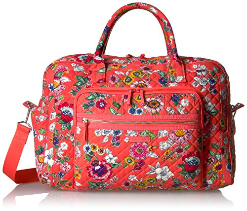 Vera Bradley Women's Iconic Weekender Travel Bag-Signature, Coral Floral ()