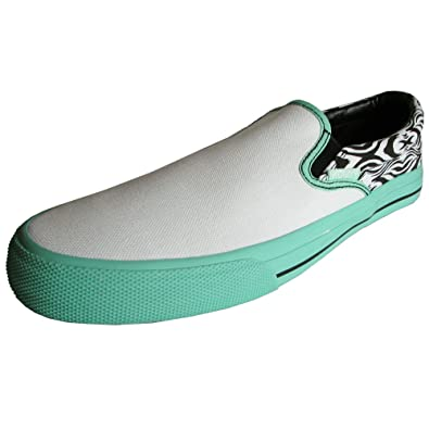 Womens Aztec Slip On Skate Shoe