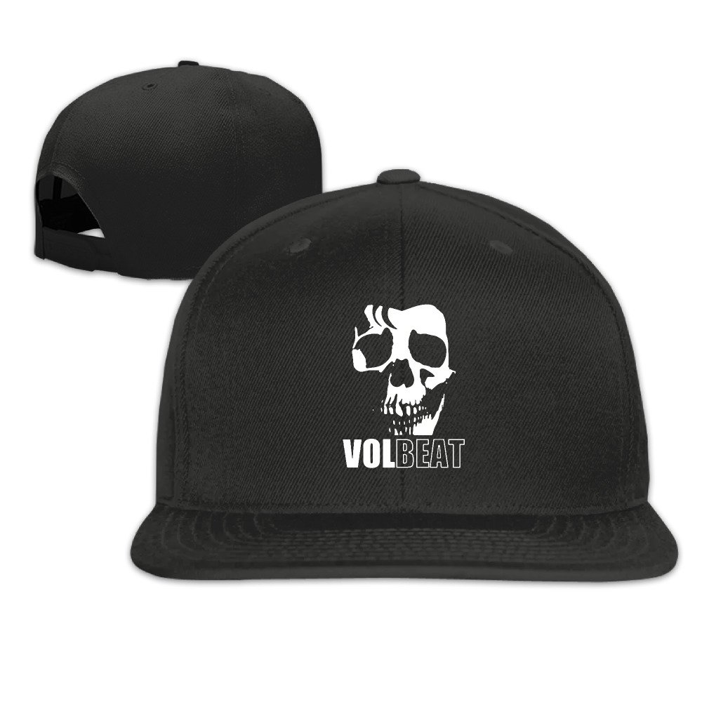 CieMoAs Volbeat Unisex Adjustable Flat Visor Hat Baseball Cap Black