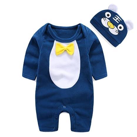 Moresave nuovo nata neonato tuta a maniche lunghe cartoni animati