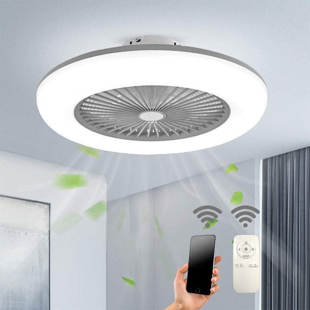 Ventilador de techo con iluminación LED ventilador lámpara de techo velocidad de viento regulable con mando a distancia 32 W moderno ventilador de techo