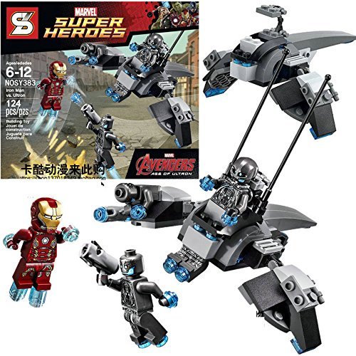 [L The Avengers Ultron vs Iron Man Hulk Buster DIY Blocks Minifigures Kids Gift Toy] (Indiana Jones Halloween Costume Diy)