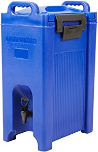 5 Gallon Insulated Beverage Dispenser, Made in USA, Meets NSF Standards (Navy Blue)