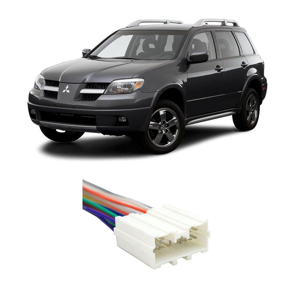 Amazon.com: Mitsubishi Outlander 2003-2006 Factory to Aftermarket Radio  Harness Adapter: Car Electronics