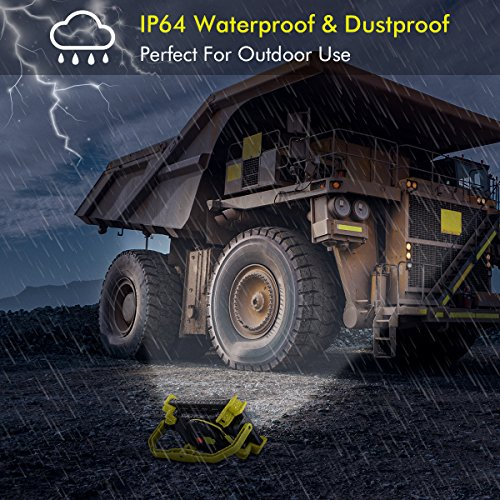 Rechargeable LED Work Light 20W 1600LM SOS Mode 2.1A Fast Charging Magnetic Base Waterproof Spotlights Outdoor Camping Emergency Floodlights For Truck Tractor Workshop Construction Site by XCSOURCE (Image #1)