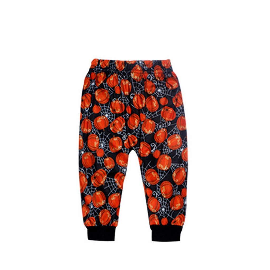 Naladoo 3PC Toddler Baby Pumpkin Romper Pants Cap Halloween Outfits Set