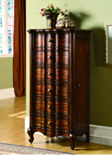 hooker furniture french jewelry armoire mahogany veneer