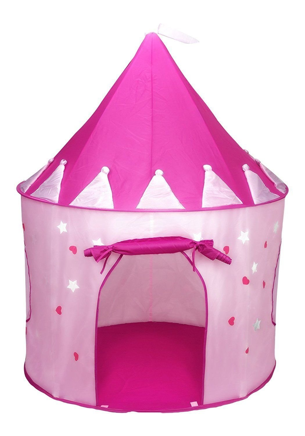 プリンセスCastle Play Tent with Glow in the Dark星、Folds Into a Carryingケース B06XJZ6Z8G