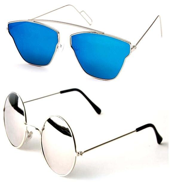 02278b817a6 Younky Combo Of Uv Protected Cateye Stylish Blue Mercury Sunglasses For Men  Women Boys   Girls ( Disbm-Rs
