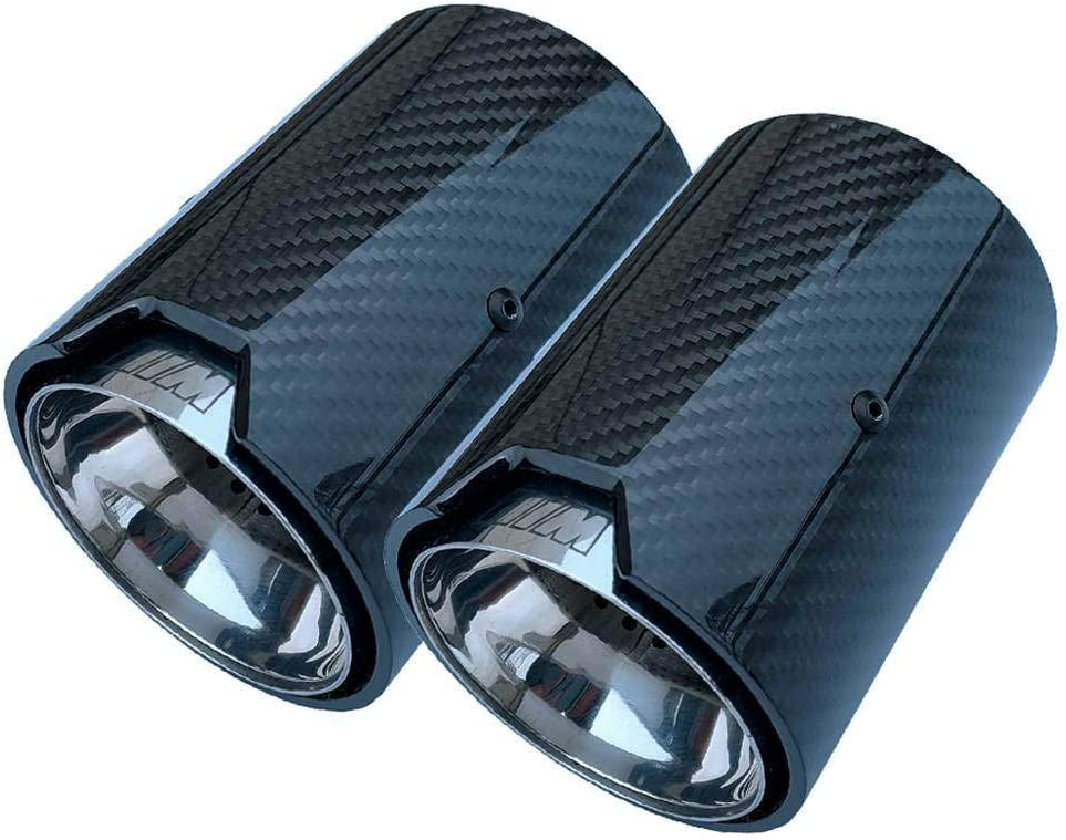 AniFM 1PCS Carbon Fiber Exhaust Muffler 70MM Inlet 92MM Outlet Car Exhaust Pipes for BMW M Performance exhaust pipe M2 F87 M3 F80 M4 F82 F83 M5 F10 M6 F12 F13,Inlet60mm