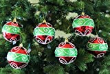 """""""Classic Christmas"""" Shatterproof 3.15"""" (80mm) Christmas Ornaments - Set of 6 with Storage Box"""