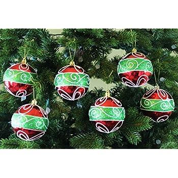 festive season classic christmas shatterproof christmas ball ornaments tree decorations set of 6