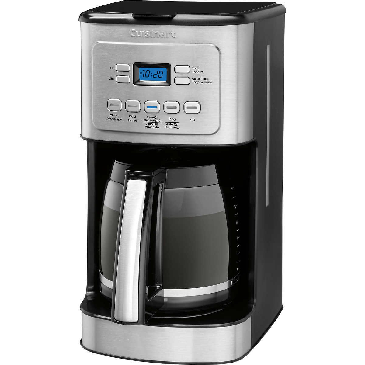 Cuisinart 14-Cup Stainless Steel Coffeemaker Machine Brew Automatic ,Black, Grey ,New