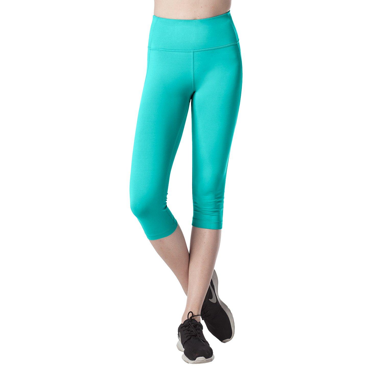 Lapasa Women's Slimming Capris - SOFT WIDE WAISTBAND - Running Yoga Pants Wide Waistband Hidden Pocket - L02