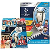 2017-18 Topps Champions League Stickers Combo 30 Pack Box & Starter Pack (Total of 171 Stickers + Album)