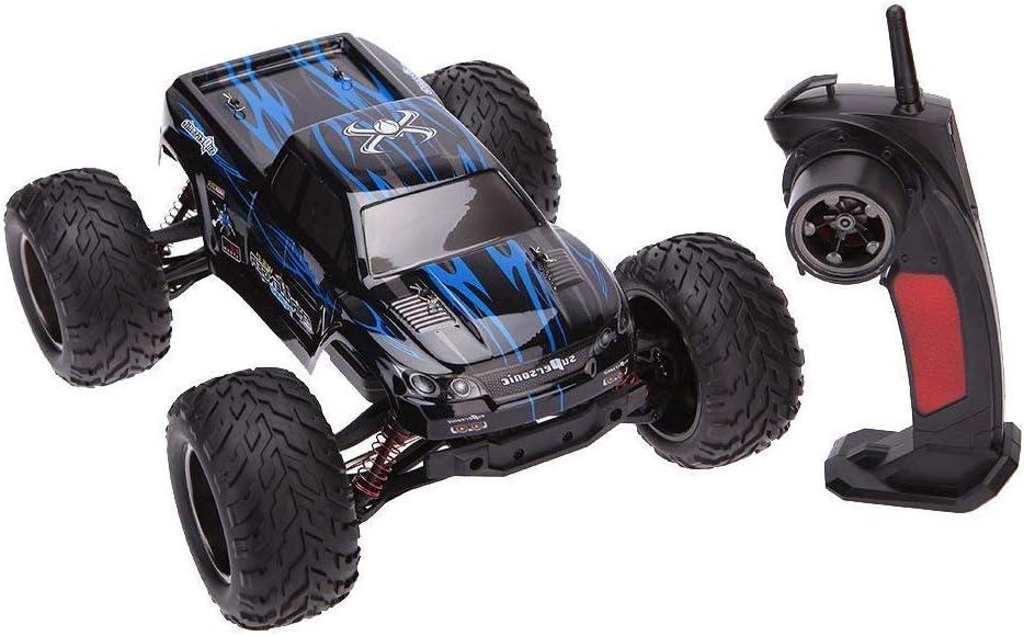MODELTRONIC Coche Radio Control teledirigido Monster Truggy Escala 1/12 9115 9116 Eléctrico 2.4G / Velocidad de 40km/h / Batería Recargable Coche RC XINLEHONG (Monster Azul 9115)