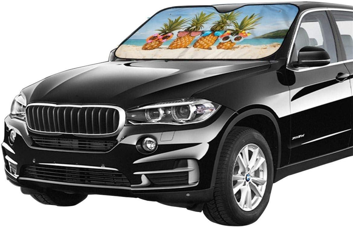 51 X 27.5 Pulgadas GFHTH Beach Pineapple Car Windshield Sun Shade Bloquea los Rayos UV Visor Solar para Mantener tu veh/ículo Fresco y Evita da/ños