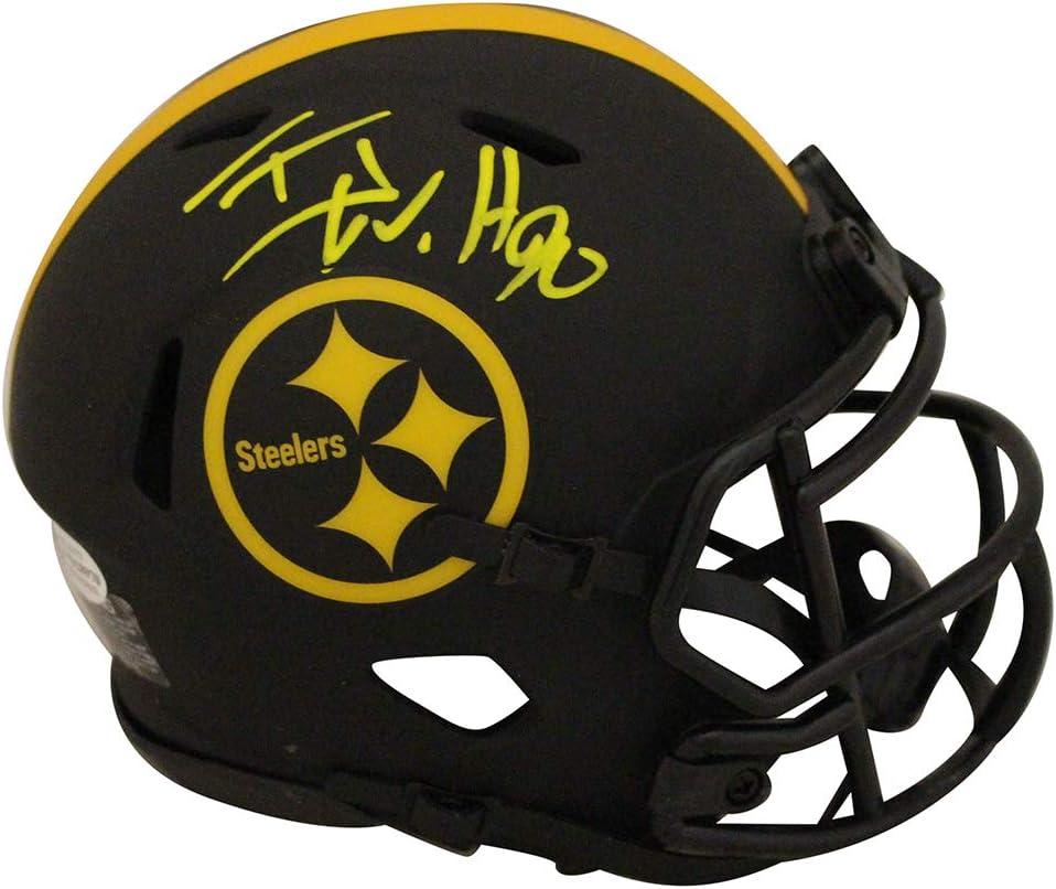TJ Watt Autographed//Signed Pittsburgh Steelers Eclipse Mini Helmet BAS