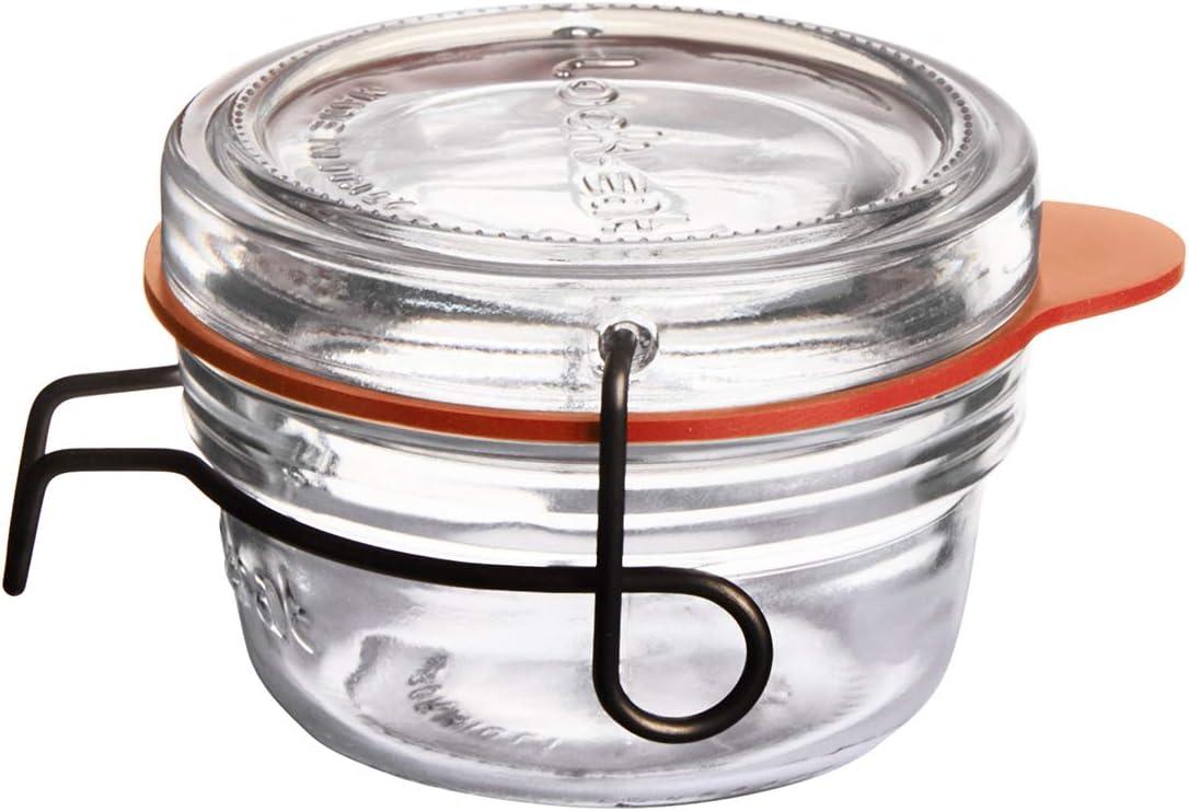 Luigi Bormioli Lock-Eat Food Jar, 2.75 oz, Clear