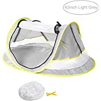 Baby Travel Tent,FOME Ultralight Waterproof Portable Baby Travel Bed UV 50+ Sun Shelters Tent Baby Beach Tent Pop Up Tent Play Tent with 2 Pegs A Carry Bag for Picnic Beach Garden Home