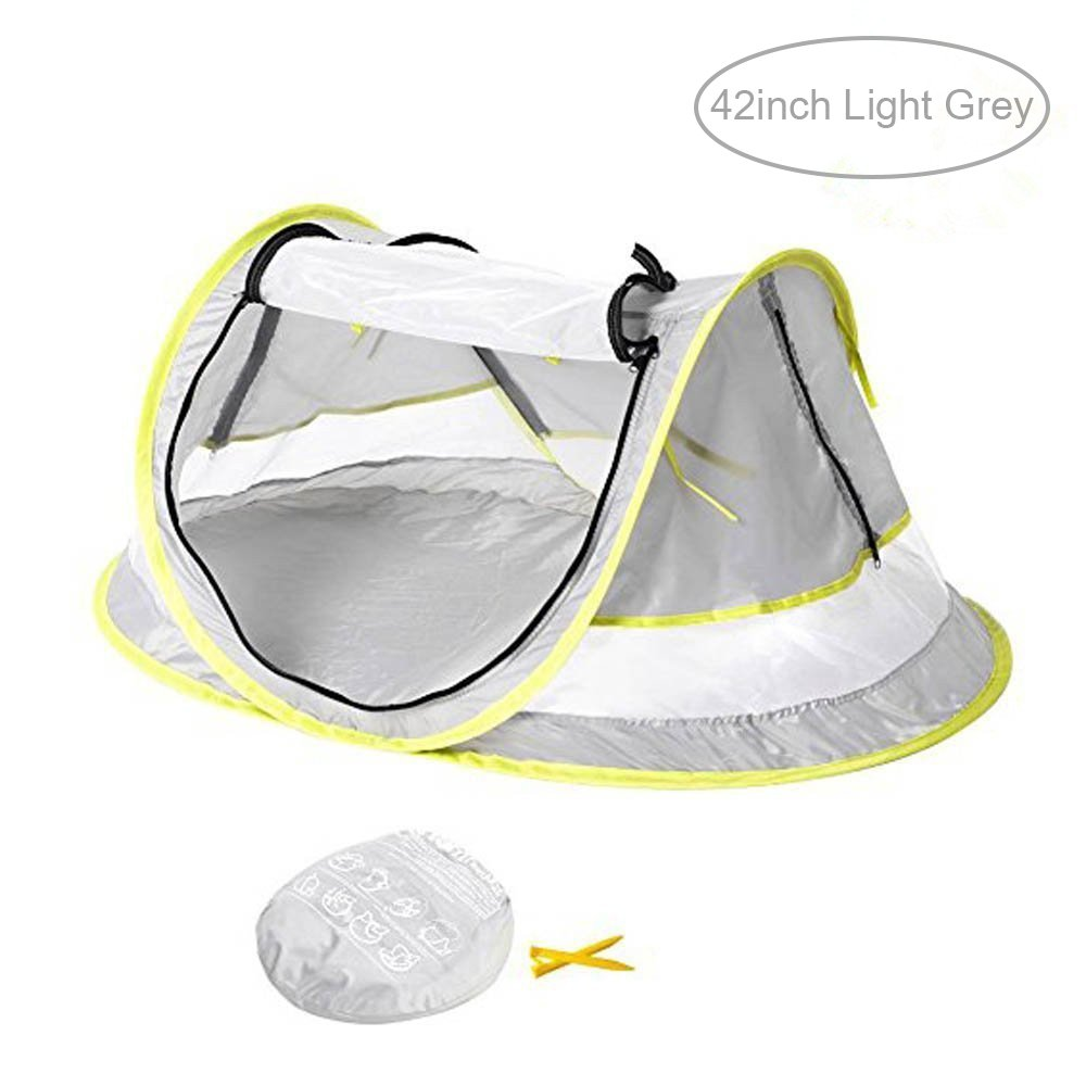 Baby Travel Tent,FOME Ultralight Waterproof Portable Baby Travel Bed UV 50+ Sun Shelters Tent Baby Beach Tent Pop Up Tent Play Tent with 2 Pegs A Carry Bag for Picnic Beach Garden Home FOME SPORTS|OUTDOORS