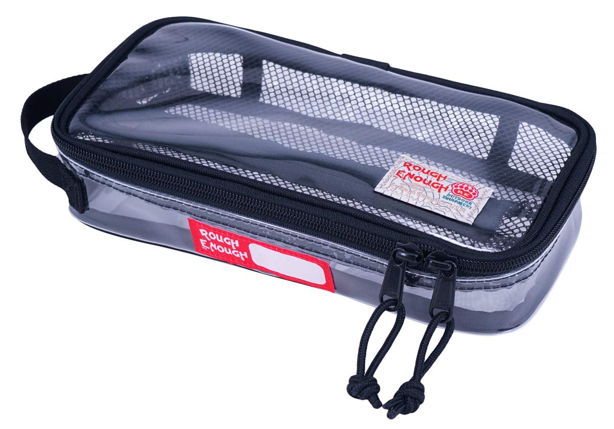 Rough Enough TSA Approved Clear Toiletry Bag Makeup Bag Organizer Zipper Pouch Case Wash Bag for Men Women Boy Girl Teen Laptop Accessories Big Pencil Case with Zipper Mesh Pocket for Travel Essential