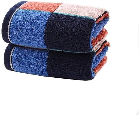 MJHZ Toalla de algodón a Cuadros Cuadrado Oscuro para Hombres y Mujeres, Azul: Amazon.es: Deportes y aire libre