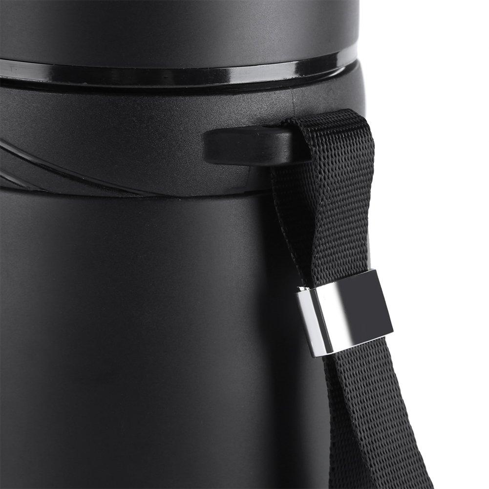 Garsent Acero Inoxidable Termo 900/ML Pared Doble ca/ño Seguro Taza t/érmica Botella para Outdoor Sport Camping Negro